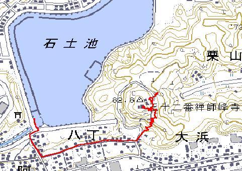 禅師峰寺の地図