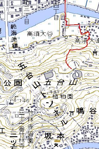 五台山へ向かう、牧野植物園は秘密基地か? GPSに記録されなかった・・・