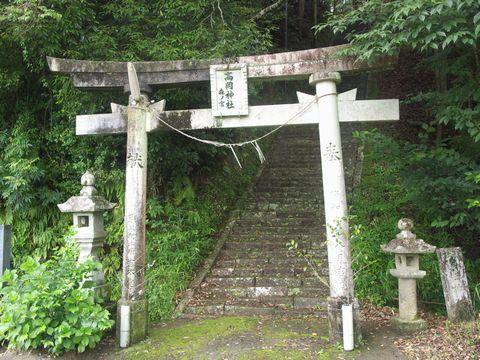 中の宮に向かって左端、森ノ宮の鳥居。階段がキツイ(今宮から途中に出られます)。
